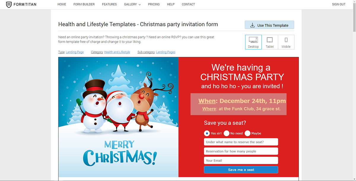 party rsvp online
