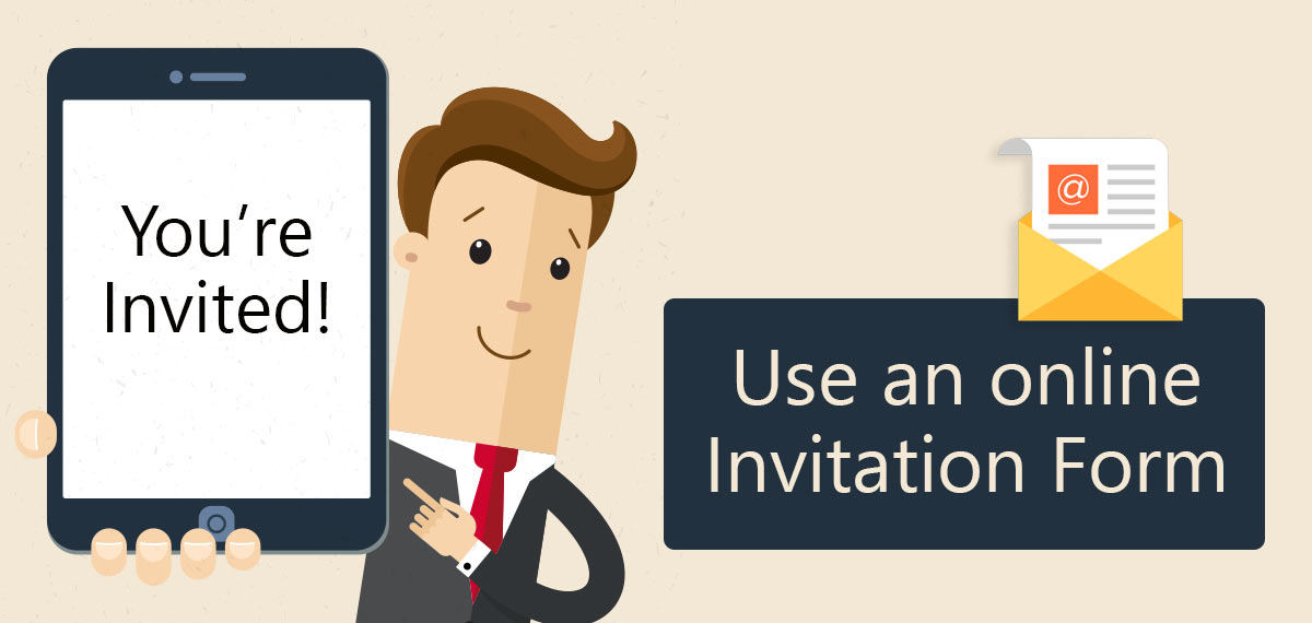easily create an an online invitation form rsvp