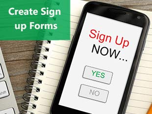Building Online Sign Up Web Forms