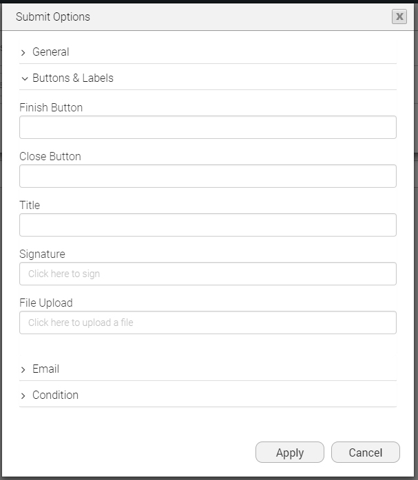 PDF Mapping: settings