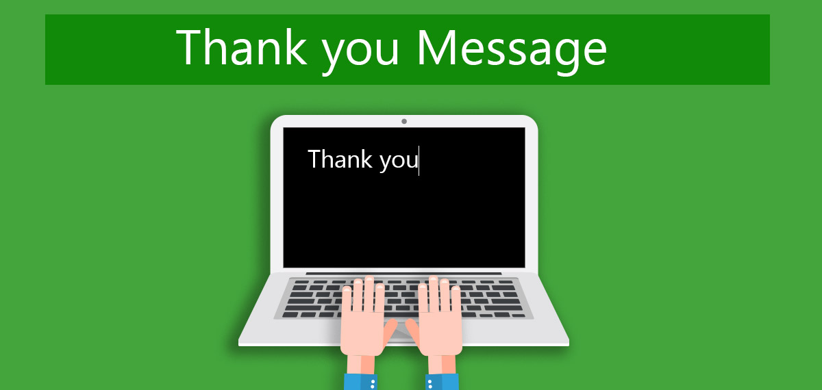Optimize your online form by adding a thank you message