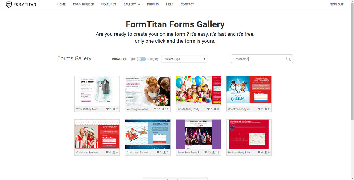 1 Enter The Formtitan Gallery Page