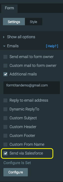 Can I send an Email through salesforce?