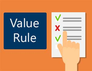 Using a value rule
