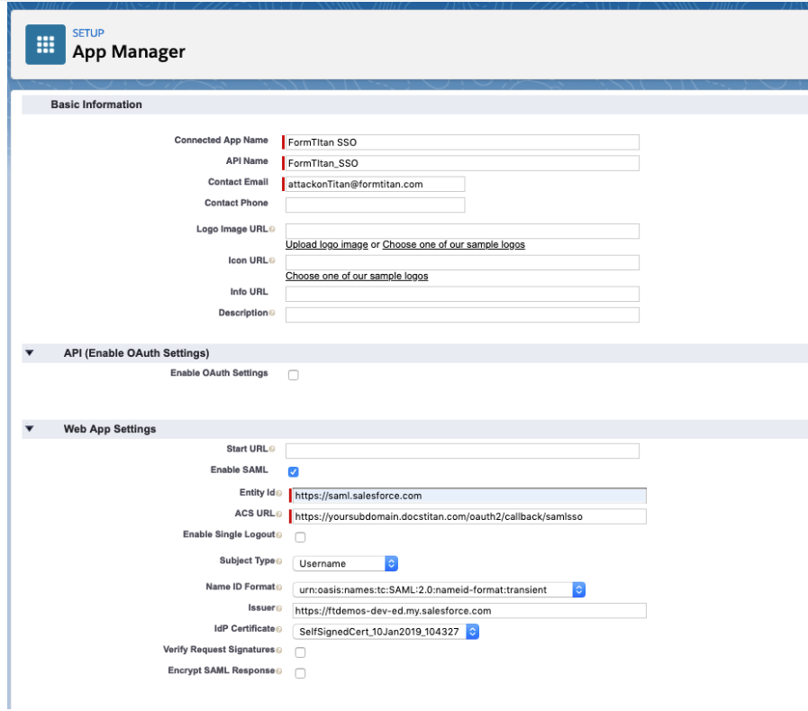 How to use SSO with Salesforce as IDP