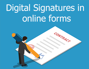 Digital signatures in forms