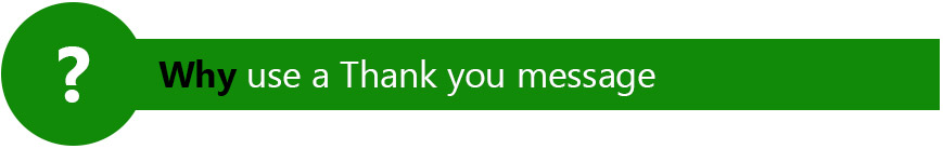 why use a thank you message