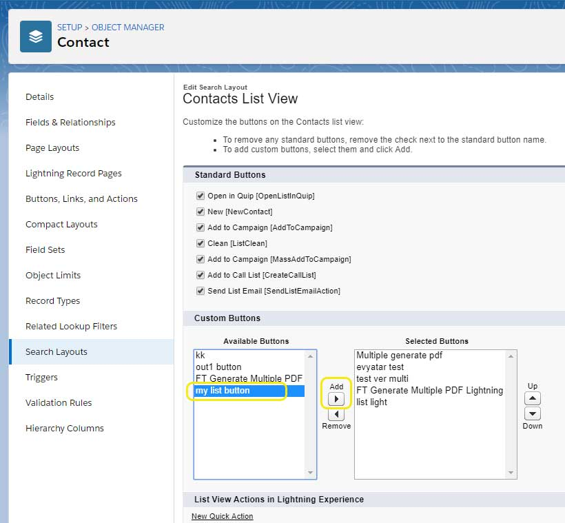 Creating and Adding a Document Generation button in the